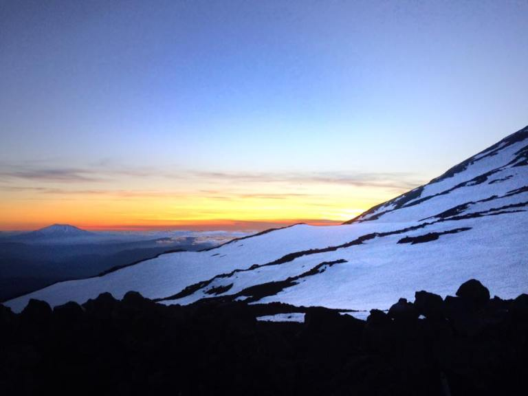 sunset 3 mt adams